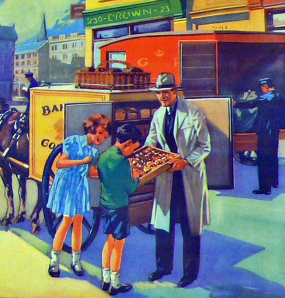 Vintage School Poster 1938 - The Baker