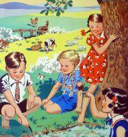 Vintage School Poster 1938 - Maytime