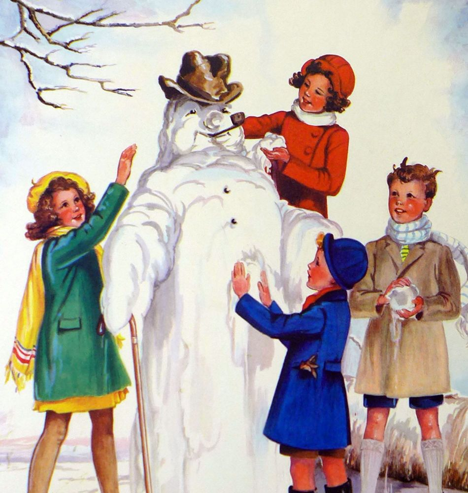 Vintage School Poster 1938 - The Snowman
