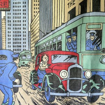 Tintin in Chicago Cotton Panel - 58cm x 142cm