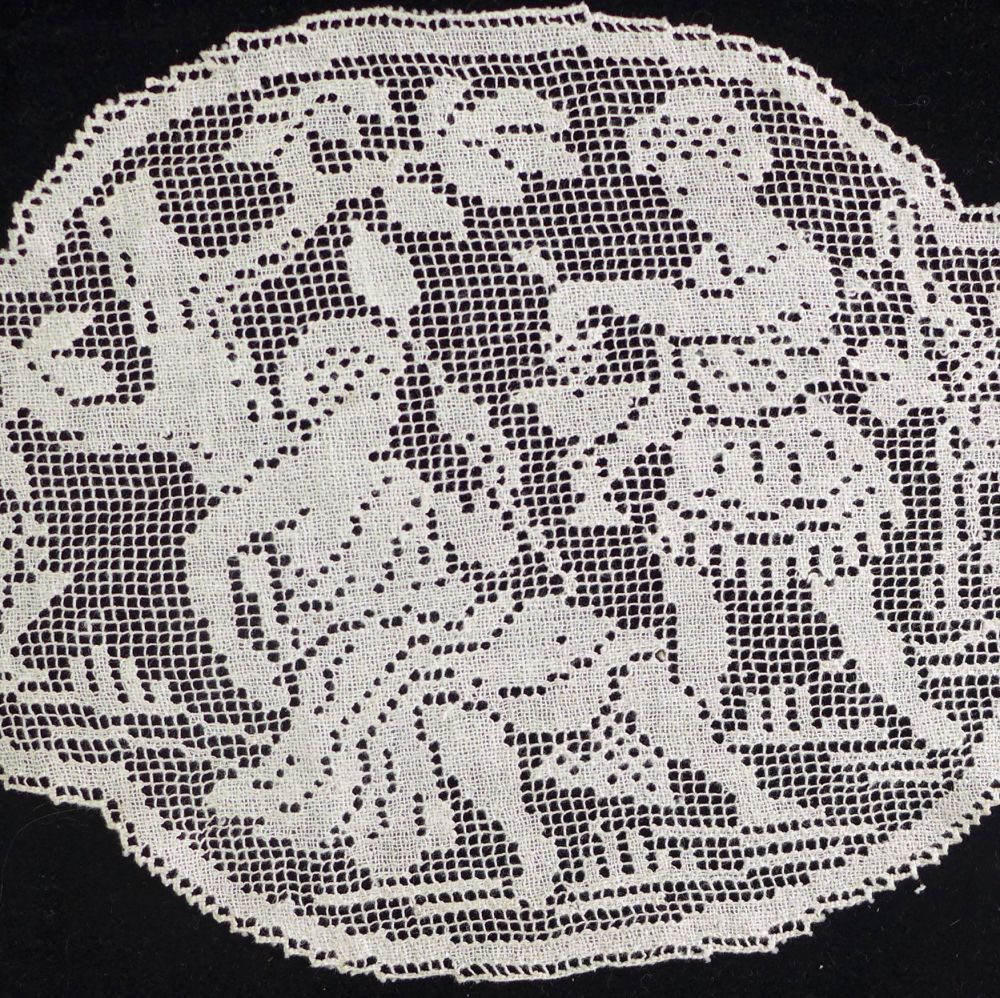 Vintage Lace Panel - People
