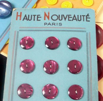 12 Vintage French Buttons