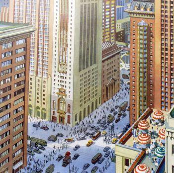 Original School Print - New York Skyscrapers