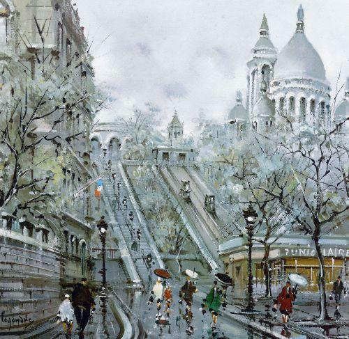 1960's Paris Print by Maurice Legendre