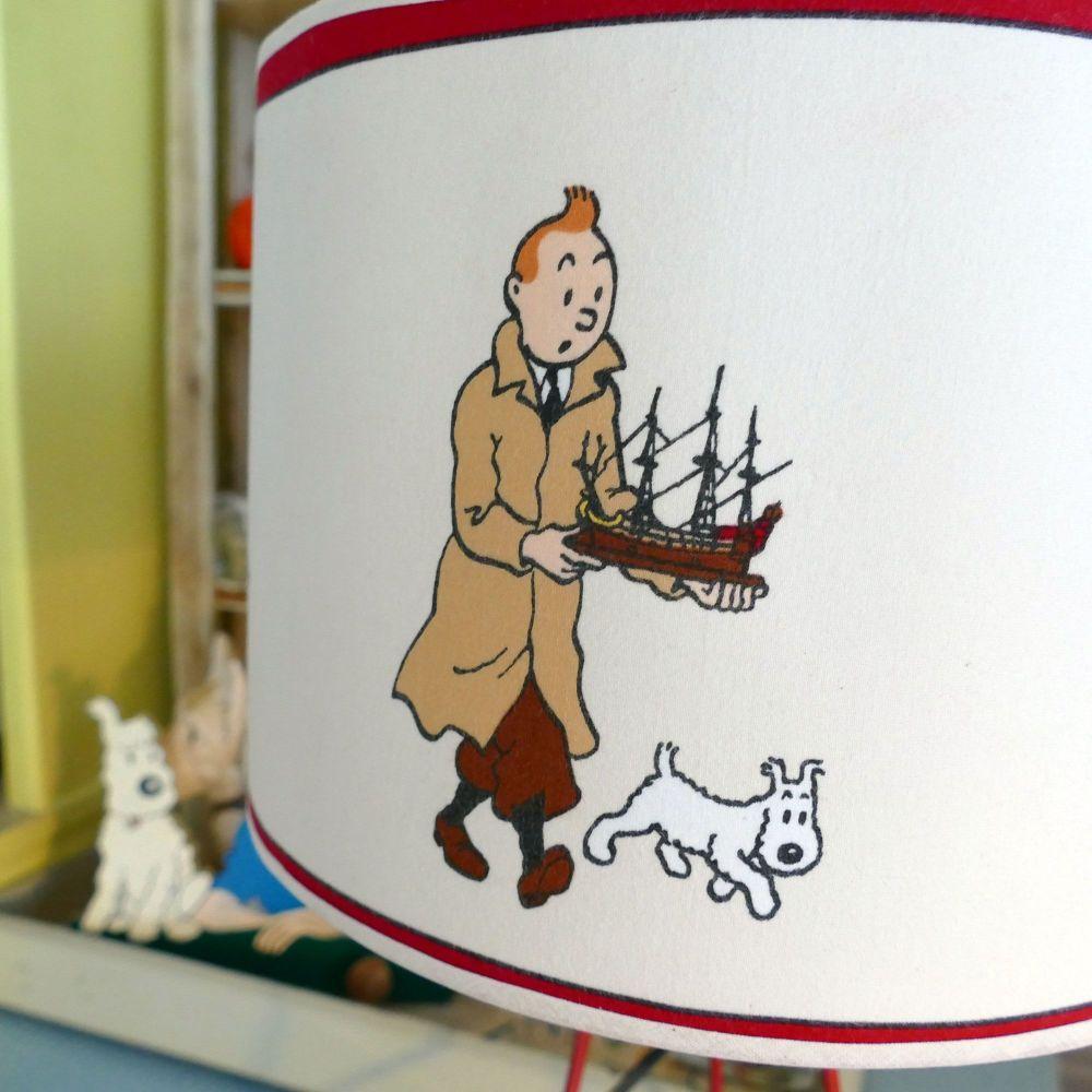 Tintin Unicorn Lampshade - Table Lamp