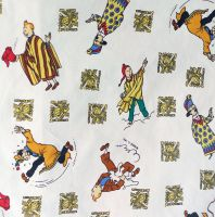 Vintage Tintin Cotton - Prisoners of the Sun - 90cm wide
