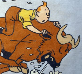Tintin in Africa - Tintin and the Buffalo