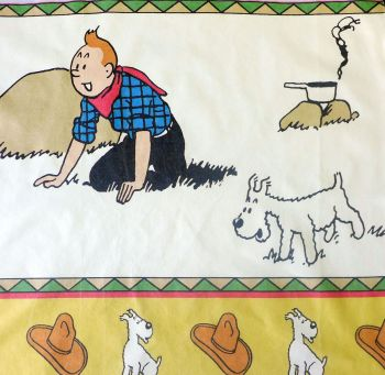 Tintin in America - Campfire - Cotton Panel
