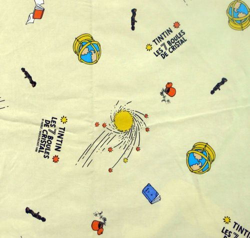 Vintage Tintin Fabric - 7 Crystal Balls - 120cm wide