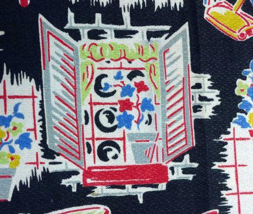 Original 1950's Kitchen Fabric - 88cm wide