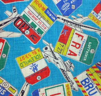 Mid Century Air Travel Cotton - 84cm wide