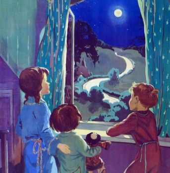 Vintage School Poster 1938 - The Moon & Stars