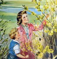 Vintage School Print - Willow Way by Eileen Soper