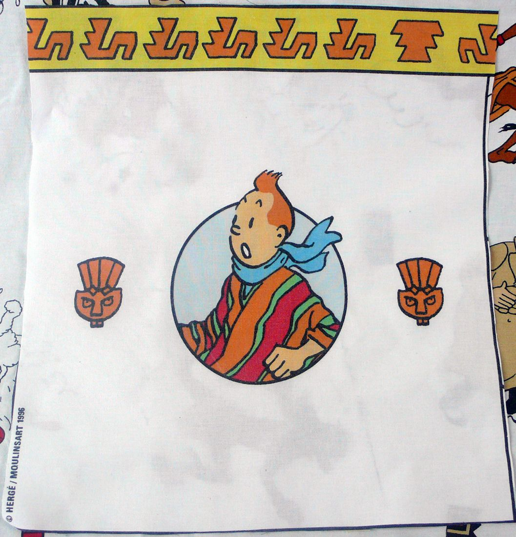 Tintin - Prisoners of the Sun Fabric - Tintin