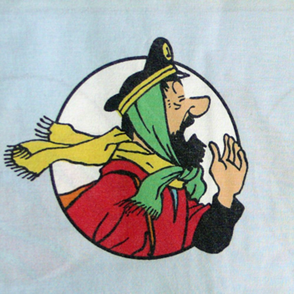 Tintin - Prisoners of the Sun Fabric -  3 Portraits