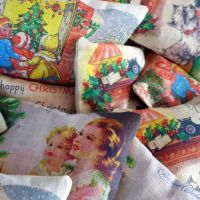 <!-- 002 -->Lavender Bag Christmas Cards