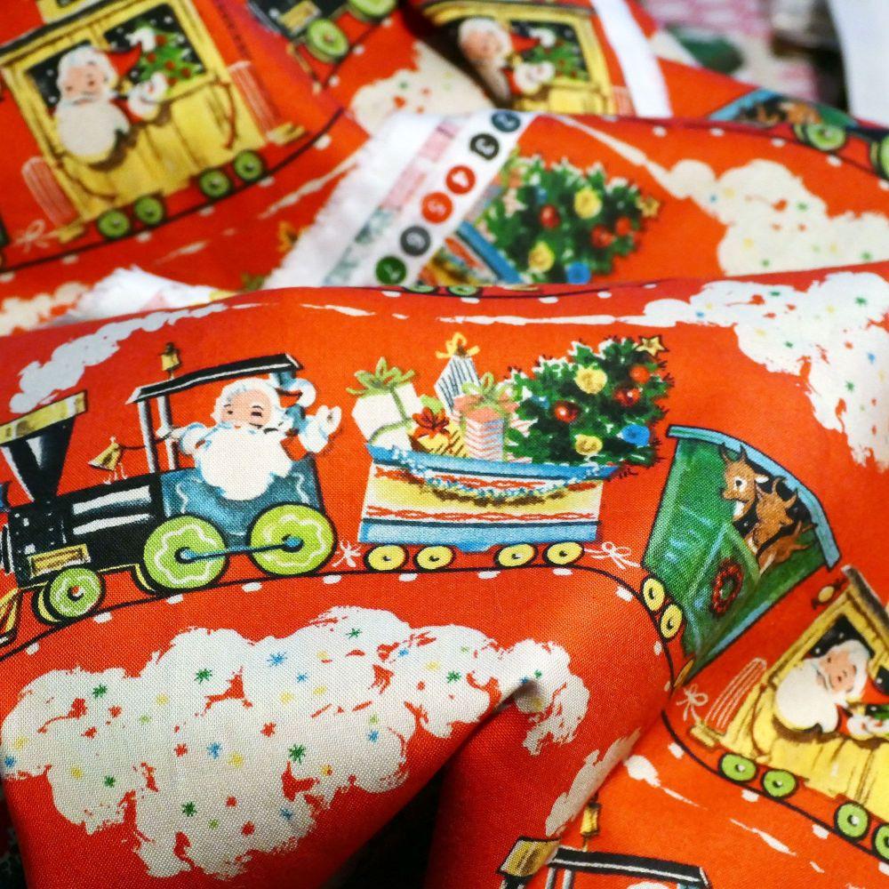 Vintage Father Christmas Cotton