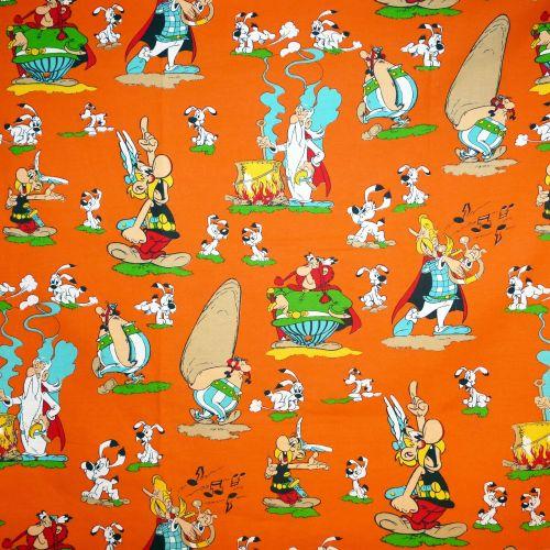Vintage Asterix Cotton - 64cm x 72cm