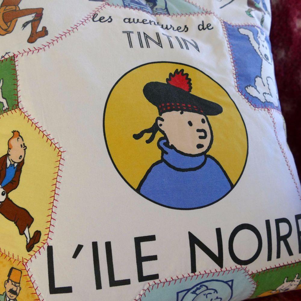 Tintin Patchwork Cushion