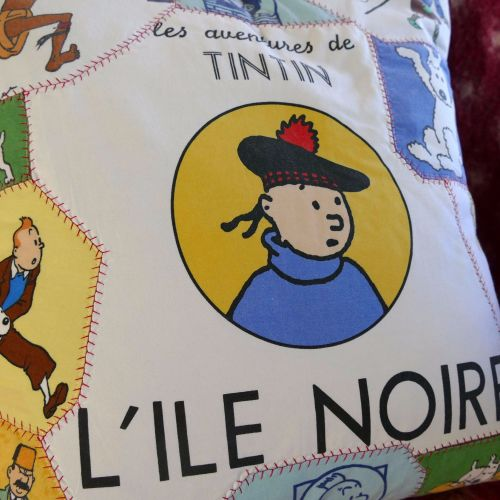 Tintin Patchwork Cushion