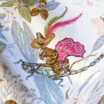 Pink Shirefolk Linen by Burgess Ledward 113cm (w)