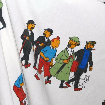 Tintin Characters Cotton - 98cm x 37cm