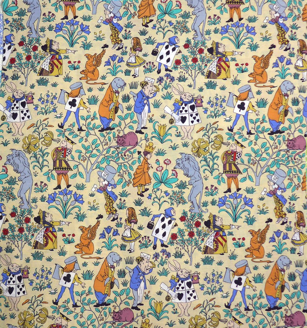Voysey Alice in Wonderland Fabric - Cotton Blend