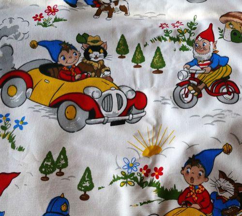 Vintage 1964 Noddy Fabric by Fothergay - Seaside