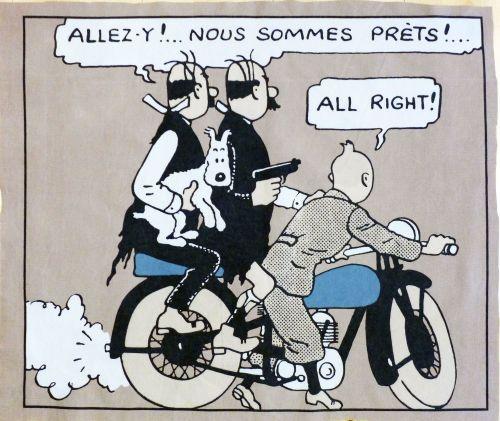 Tintin Fabric Panel - King Ottokar's Sceptre - Tintin & The Thomsons