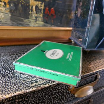 Craven Plain Cigarette Tin (Green)