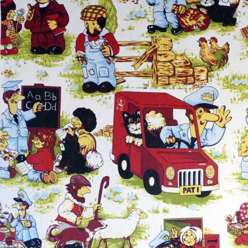 Postman Pat Cotton Fabric - 58cm x 110cm