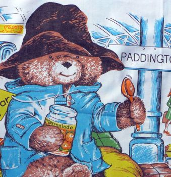 Paddington Bear Fabric Panels