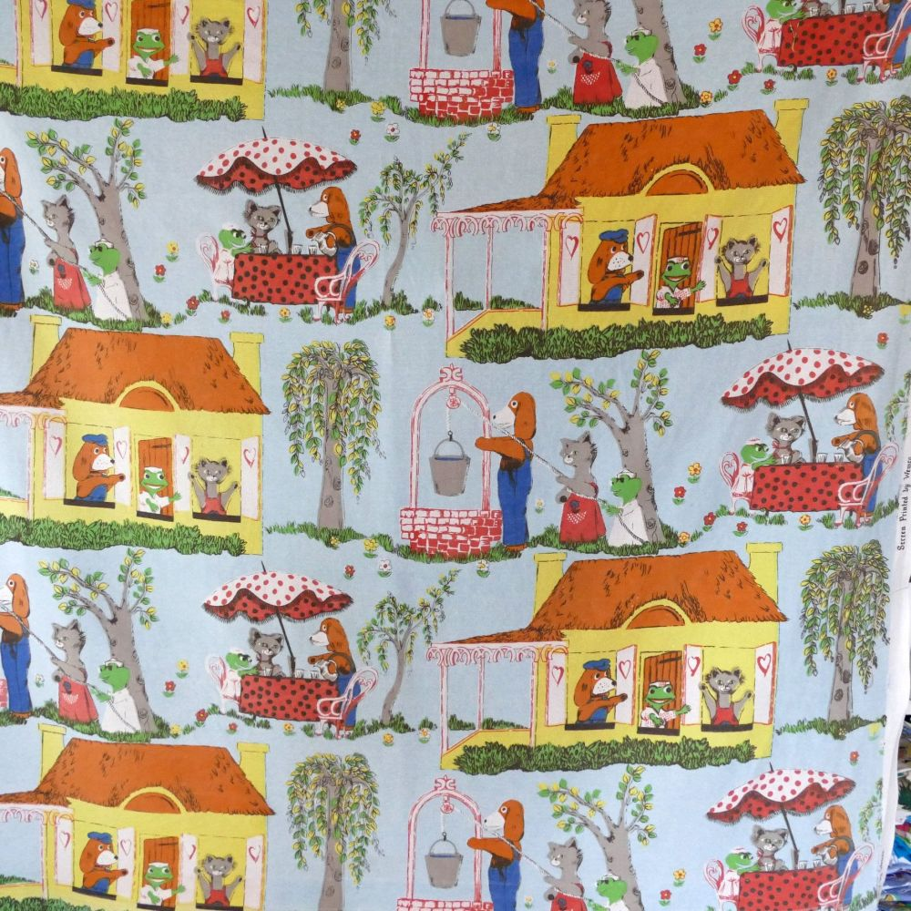 Hector's House Screenprint Fabric - 120cm wide