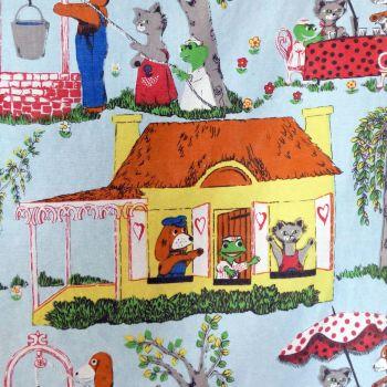 Hector's House Screenprint Fabric - 120cm wide