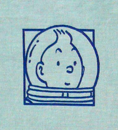 Vintage Tintin Fabric - Destination Moon - Blue - 50cm x 60cm