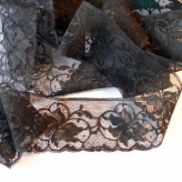 Black Vintage Leavers Lace - BSL
