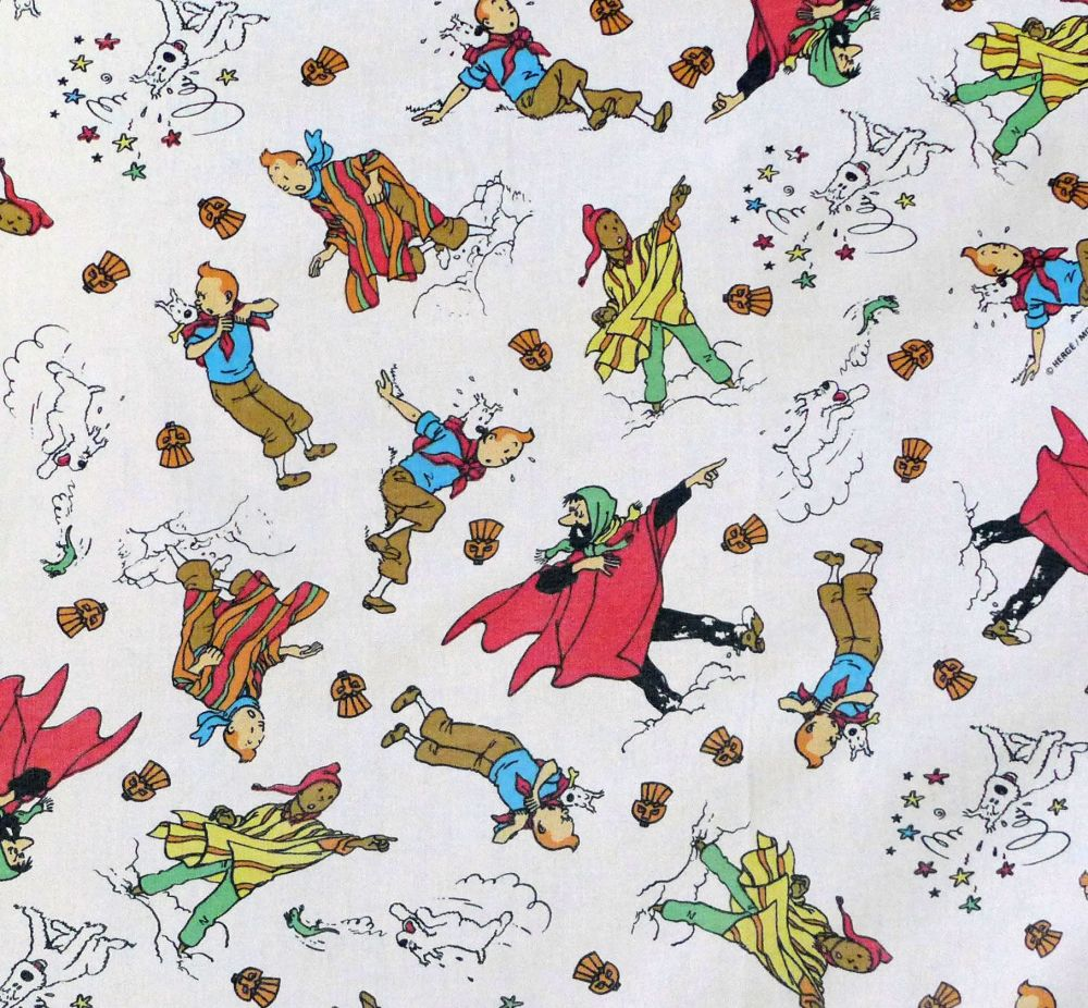 Vintage Tintin Cotton - Prisoners of the Sun (Mountain) - 160cm wide