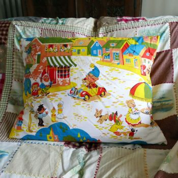 Vintage Noddy Fabric Cushion