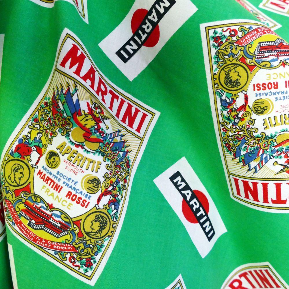 Vintage 1960's Martini Cotton - 60cm x 60cm