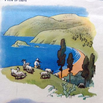 Vintage School Poster - Geography - Mediterranean Climate