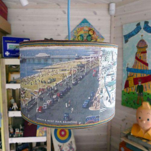 Brighton Postcard Lampshade - Ceiling - 30cm