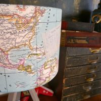 Vintage Map Lampshade - Pale Blue