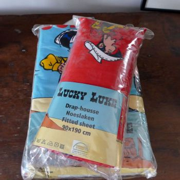 Vintage Lucky Luke Fitted Sheet - New & Unused