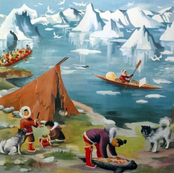 Vintage French School Print - Helen Poirie - Greenland