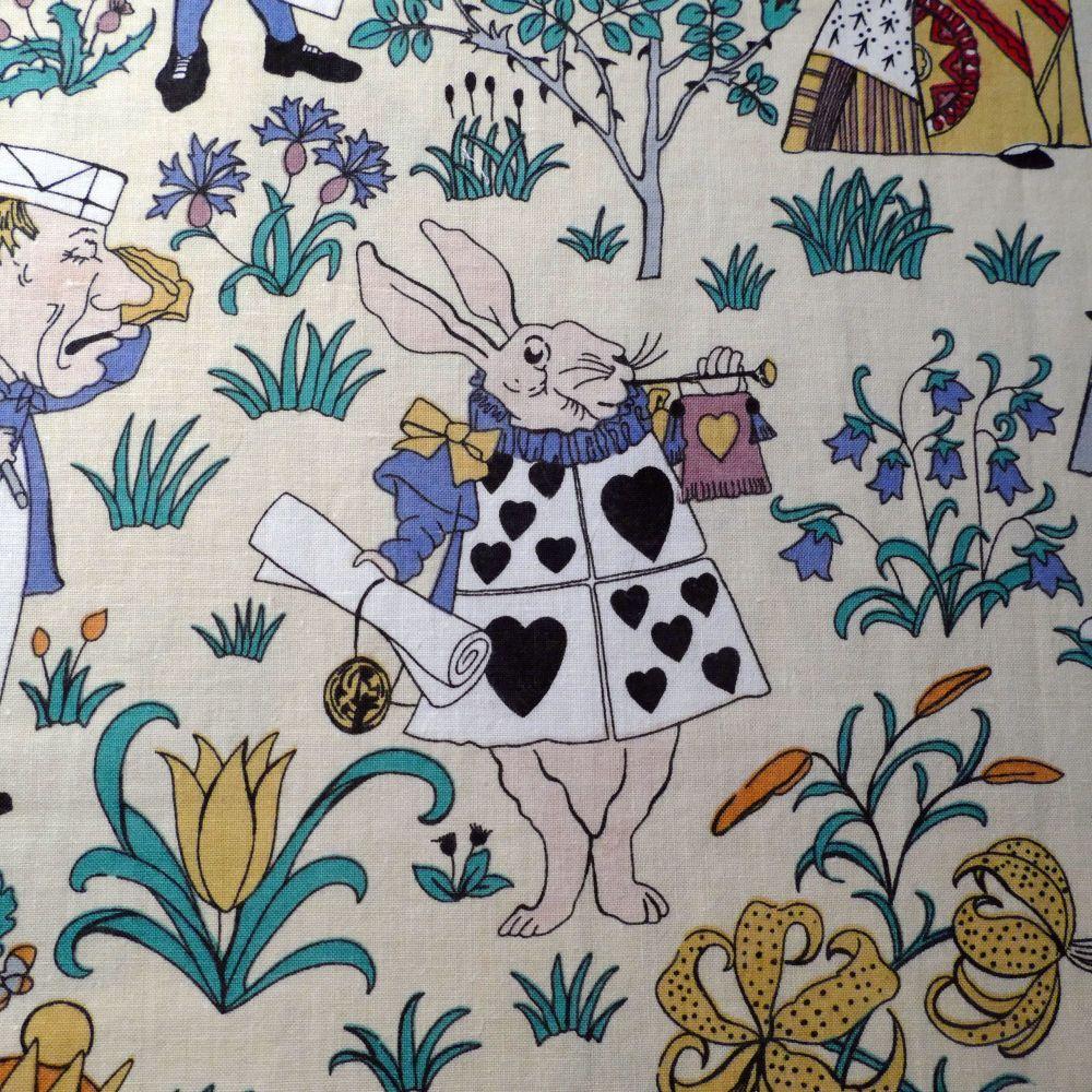 Vintage Alice in Wonderland Fabric - Voysey - 70cm wide