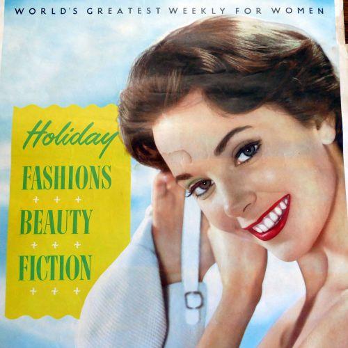 Vintage Woman Magazine Poster