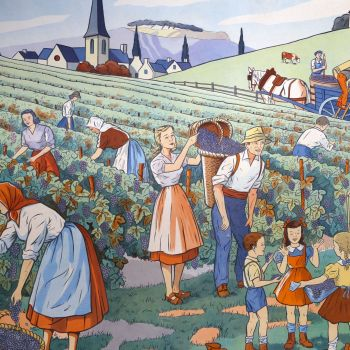 French Classroom Poster - Playground/Grape Pickers