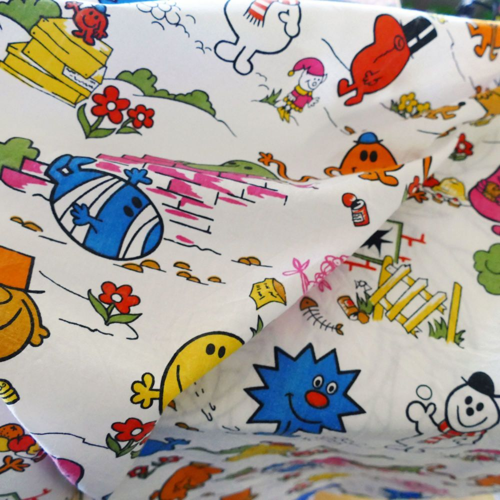 Vintage Mr Men Cotton - 105cm wide
