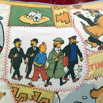 Tintin Patchwork Cushion - Aztec