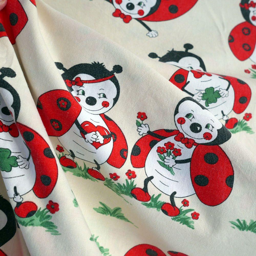 Vintage Ladybird Cotton - 145cm wide